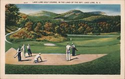 Golf Course in the Land of the Sky Postcard