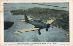 Army Air Corps Trainer Flying Over Biloxi, Miss.