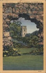 Ruins of Cathedral Postcard