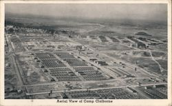 Aerial View of Camp Claiborne Postcard