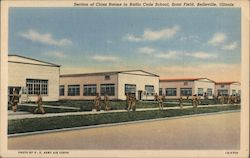 Section of Class Rooms in Radio Code School, Scott Field Postcard