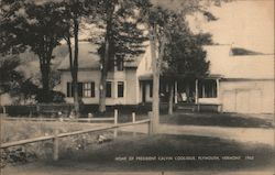 Home of President Calvin Coolidge 1965 Postcard