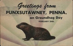Greetings From Punxsutawney, Pennsylvania on Groundhog Day, February 2nd