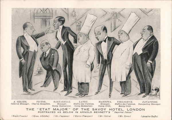 The Etat Major of the Savoy Hotel London England