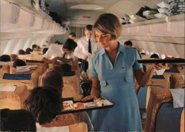 Stewardess - Lufthansa Intercontinental Jet Airline Advertising
