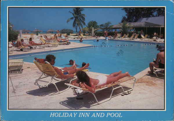 Holiday Inn and Pool Freeport Bahamas Caribbean Islands