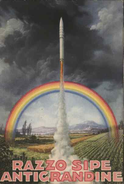 Razzo Sipe Antigrandine - Model Rocket, Rainbow Art Deco
