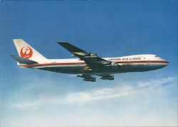 Japan Airlines - B747 Jet Courier Postcard