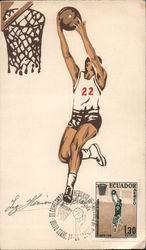 sketch of a basketball player playing.