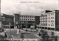 View of Broadgate House Postcard