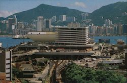 The Kowloon–Canton Railway Terminal with the grand view Postcard