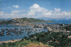 General View of Cheung Chau Island, New Territories Postcard