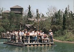 Tokyo Disney Crossing the Rivers of America on a Log Raft