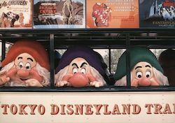 Tokyo Disney The Seven Dwarfs Enjoy a Ride on the Omnibus