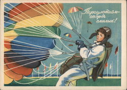 Soviet Man with Colored Parachute