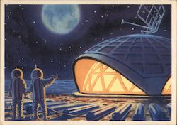 "Soviet ""Future Space"" The First House on the Moon"