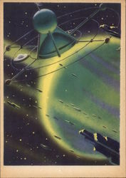 "Soviet ""Future Space"" Picture of a Satellite"