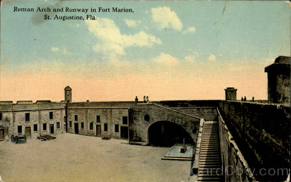 Roman Arch And Runway In Fort Marion St. Augustine Florida