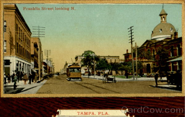 Franklin Street Looking North Tampa  Florida