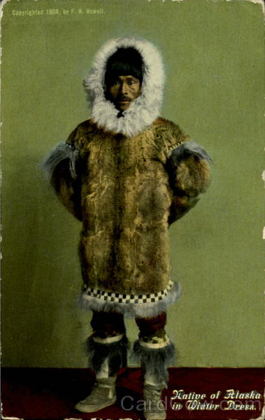 Native Of Alaska In Winter Dress Native Americana
