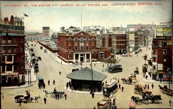 The Boston City Hospital Relief Station And North Station Massachusetts