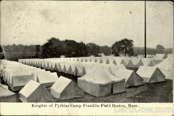 Knights Of Pythias Camp Franklin Field Boston Massachusetts