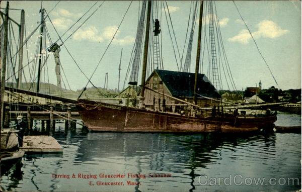 Farring rigging gloucester fishing schooner east for Gloucester ma fishing