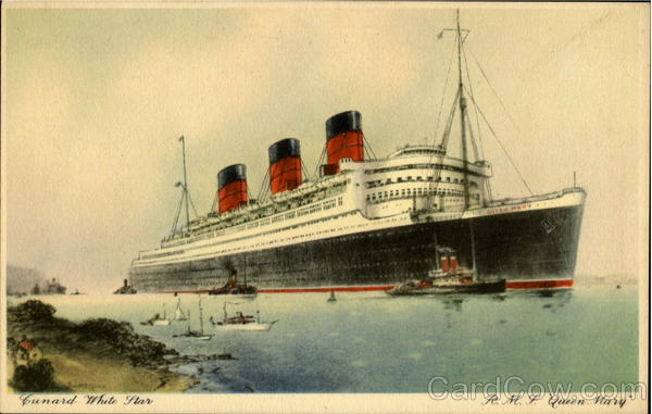 R. M. S. Queen Mary Cunard White Star Boats, Ships