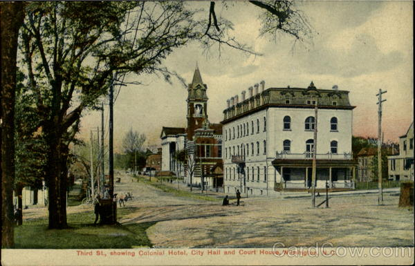 Showing Colonial Hotel City Hall And Court House, Third St. Wilmington North Carolina