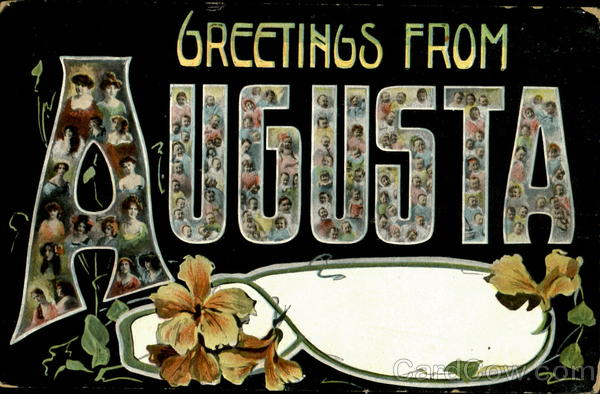 Greetings From Augusta Maine Large Letter