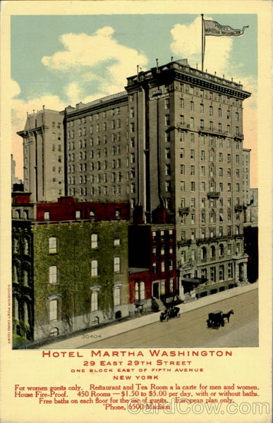 Hotel Martha Washington, 29 East 29th Street New York City