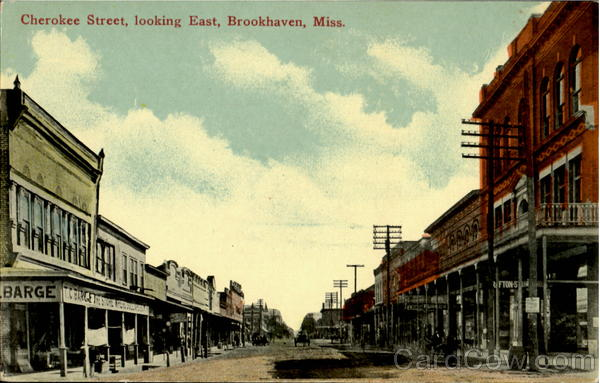 Cherokee Street looking East Brookhaven Mississippi