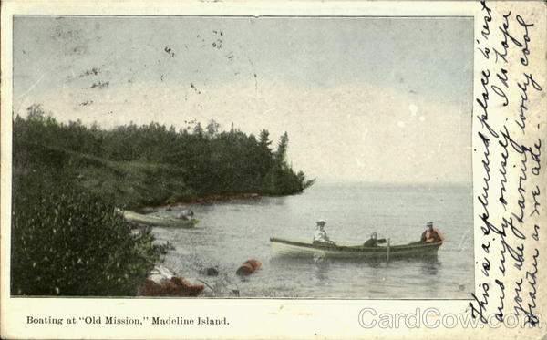 Boating At Old Mission Madeline Island Wisconsin