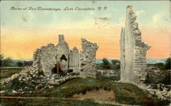 Ruins Of Fort Ticonderoga Postcard