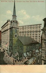 Old South Church With New Old South Building Postcard