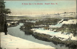 A Snowy Day In The Marshes