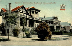 Residence Section Of The Boulevard Postcard