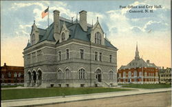 Post Office And City Hall Postcard