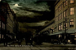Bay Street Looking W. Jacksonville Postcard
