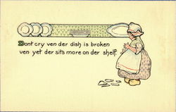 Don't cry ven der dish is broken