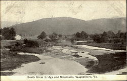 South River Bridge And Mountains
