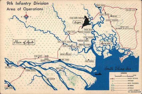 9th Infantry Division Area of Operations Vietnam Southeast Asia