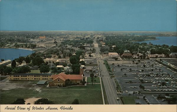 Aerial View of the City of 100 Lakes Winter Haven Florida