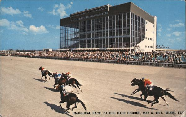 Inaugural Race, Calder Race Course, May 6, 1971. Miami, FL Florida