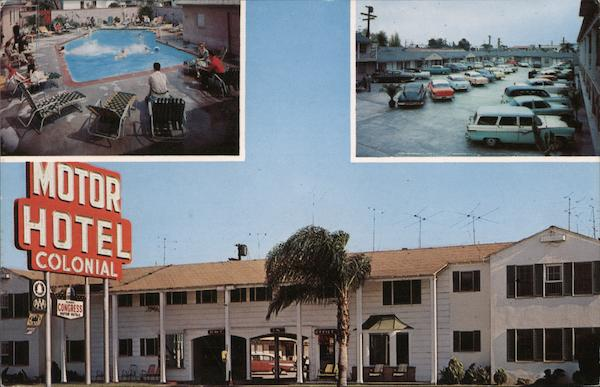 Colonial Motor Hotel Long Beach California