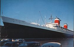SS United States of the United States Line at Her Pier Postcard
