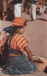 Solola Indian Girl Postcard