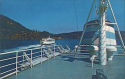 B.C. Government new ferry, the M.V. Sydney, photographed from deck of M.V. Tsawwassen