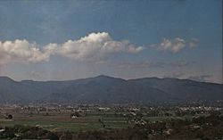 Panoramic View of Ukiah, California