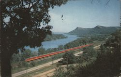 Twin Cities Hiawatha Along the Mississippi Postcard